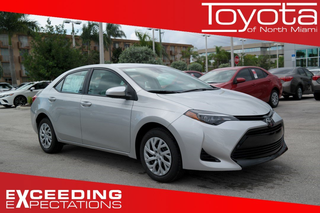 New 2019 Toyota Corolla Le Cvt 4dr Car In Miami C208658 Toyota Of