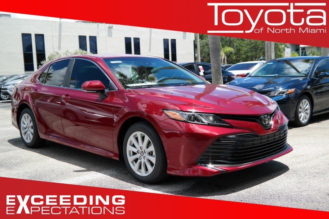 New 2019 Toyota Camry Le Auto 4dr Car In Miami M685421 Toyota Of