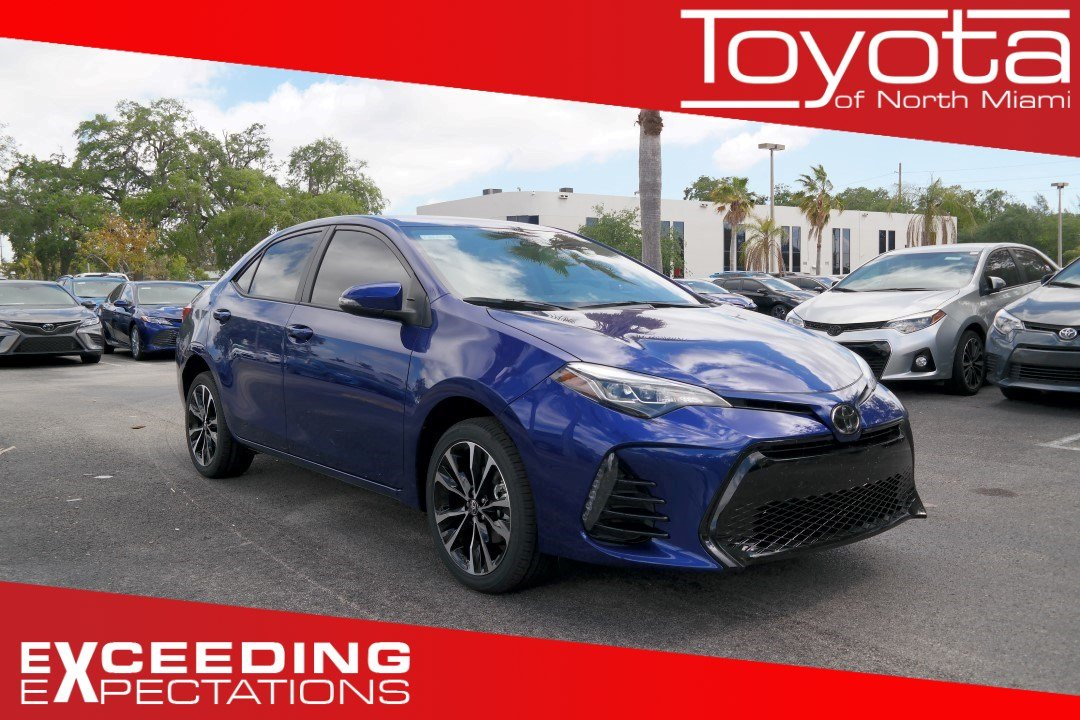New 2019 Toyota Corolla Se Cvt 4dr Car In Miami C892825 Toyota Of